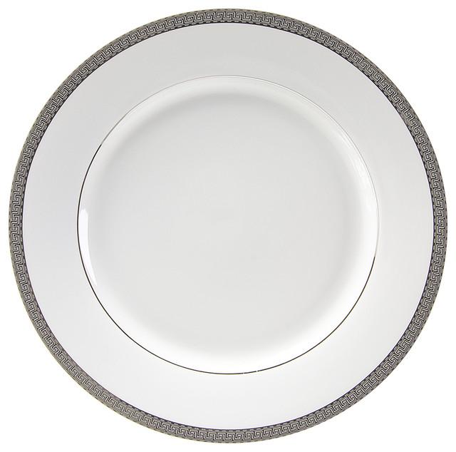 Luxor Dinner Plates, Set of 6, Platinum