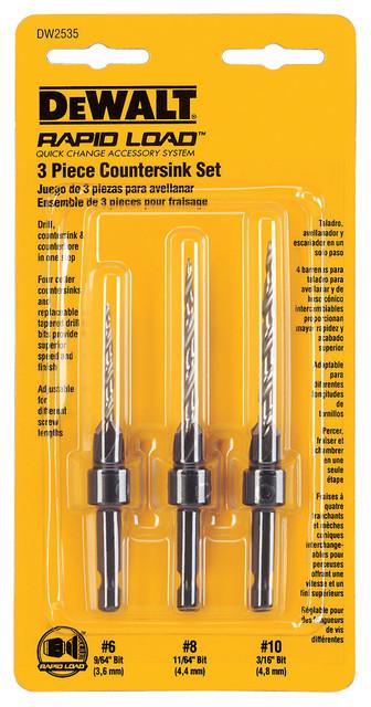 Dewalt Dw2535 3 Piece Drill Countersink Set.