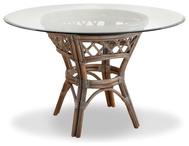 Nadine Dining Table Tropical, 42 In Round Glass Table Top