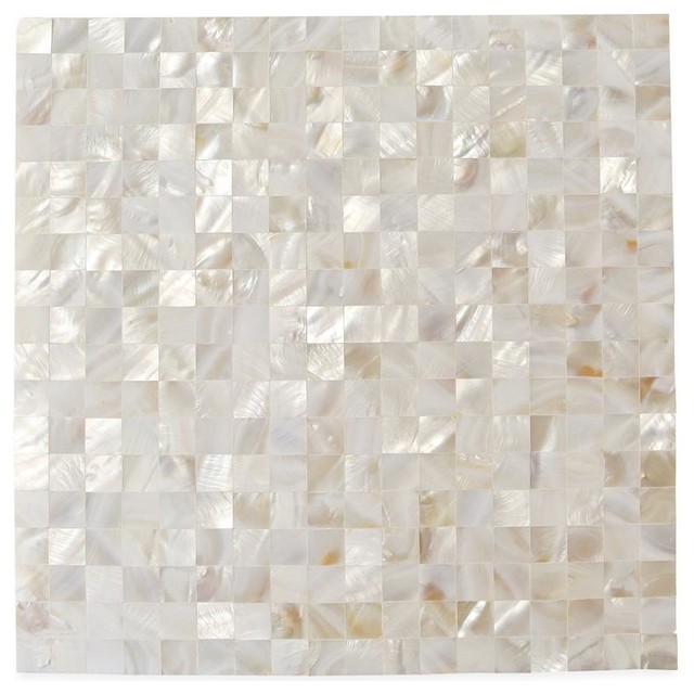 12 Quot X12 Quot Serene Square Mother Of Pearl Patterned Tile