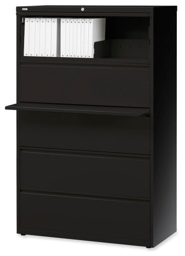 Lorell Telescoping Suspension Lateral Files Cabinet - Filing Cabinets - by Alliance Supply