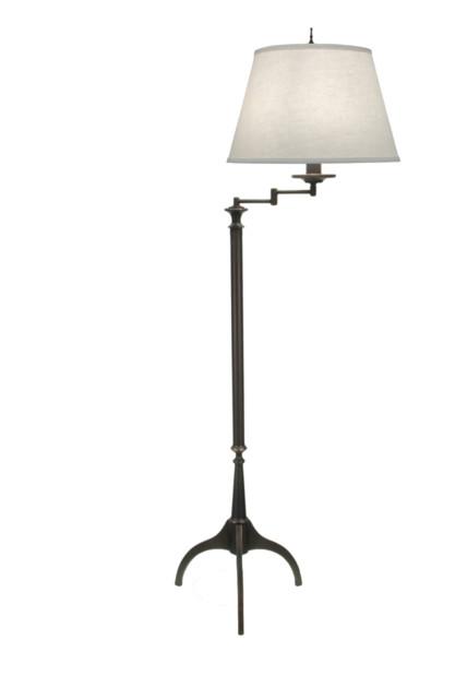 Stiffel Swing Arm Floor Lamp, Bronze.