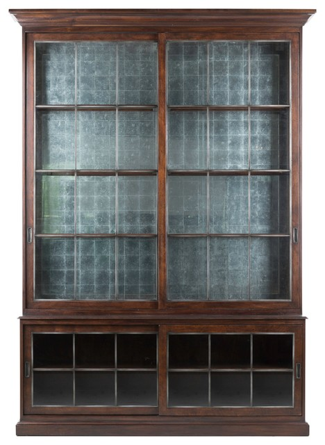 august two pieces sliding door cabinet traditional china cabinets white display lockable track sale