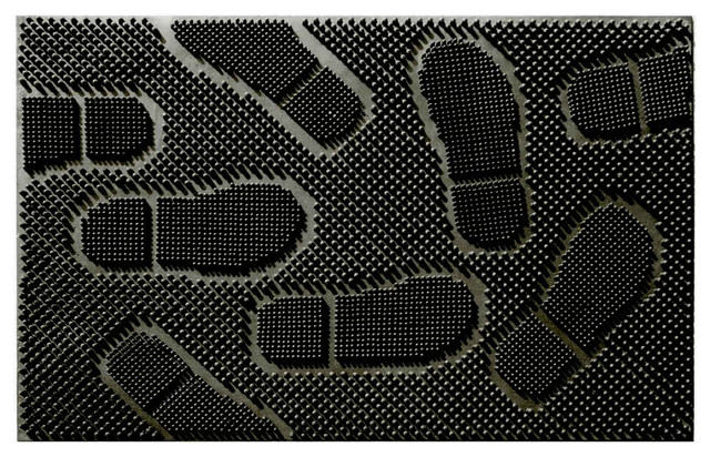 Rubber Shoe Pad Mat, Black, 24x36.