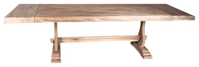 Extendable Dinning Table Driftwood Finish Farmhouse Dining Tables by A