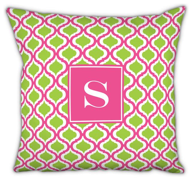Square Pillow Kate Single Initial, Letter Q