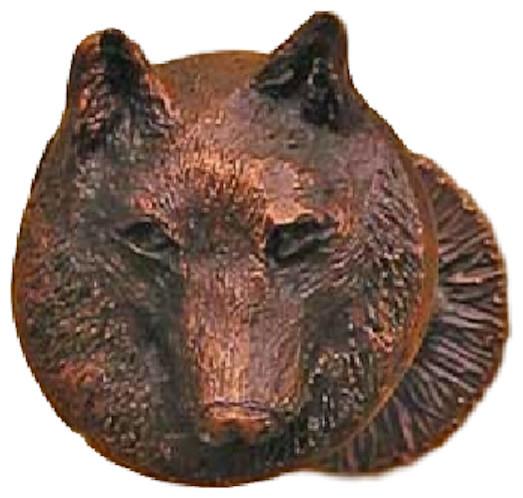 Drapery Tieback/valance Post, Wolf, Basic Patina.