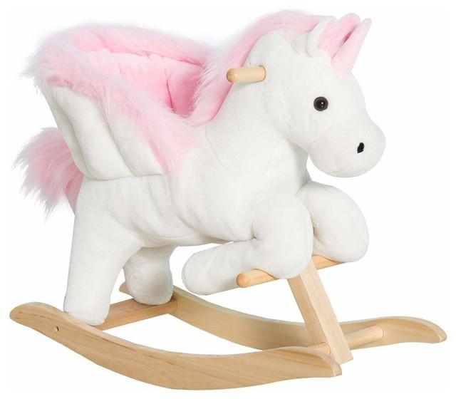 Qaba Kids Rocking Chair Plush Unicorn With Sing Along Song