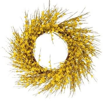 """Forsythia Wreath, 22"""""""