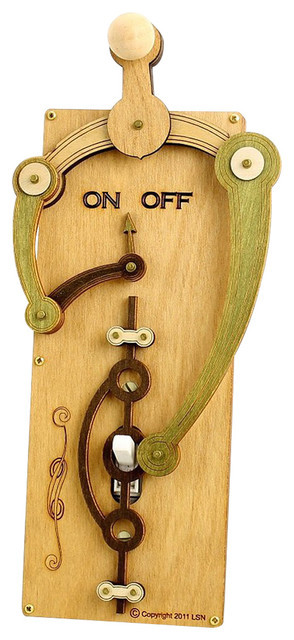Green Tree Jewelry Double Fulcrum Natural Wood Light Switch Plate Cover #8006