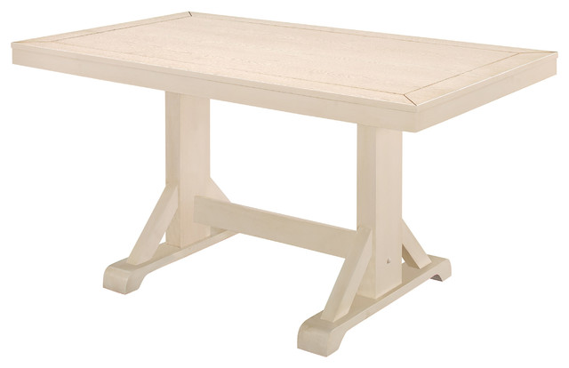 "60"" Millwright Dining Table, Antique White."