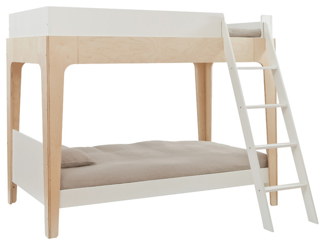 Perch Twin Bunk Bed Birch And White