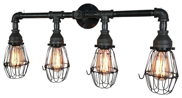 Retro Farmhouse 4 Bulb Vanity Light