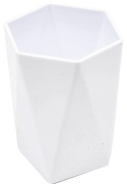 Bathroom tumbler cup hexagonal solid color contemporary for White bathroom tumbler