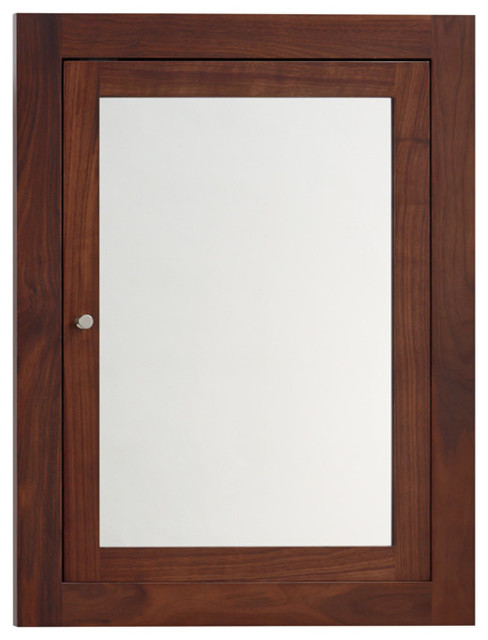 Ronbow neo classic solid wood framed medicine cabinet for Wood frame medicine cabinet