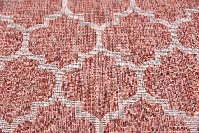 4&x27;x6&x27;outdoor Trellis Rust Red Area Rug.