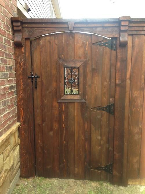 8 Tall Wood Gate Cedar Board On Board Arched Gate 2 Quot X