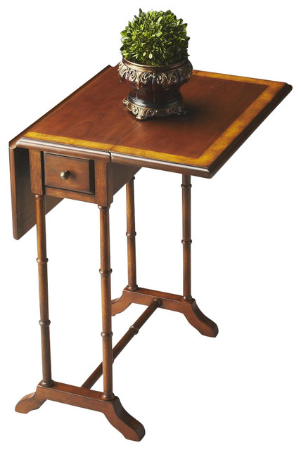 Masterpiece Drop Leaf End Table Traditional Side Tables And End