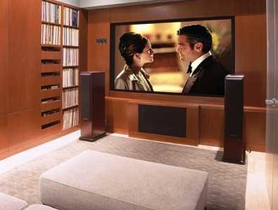 Donald Billinkoff Architects contemporary media room