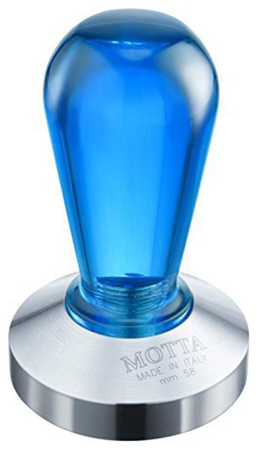 Motta Stainless Steel Rainbow Coffee Tamper, Blue.