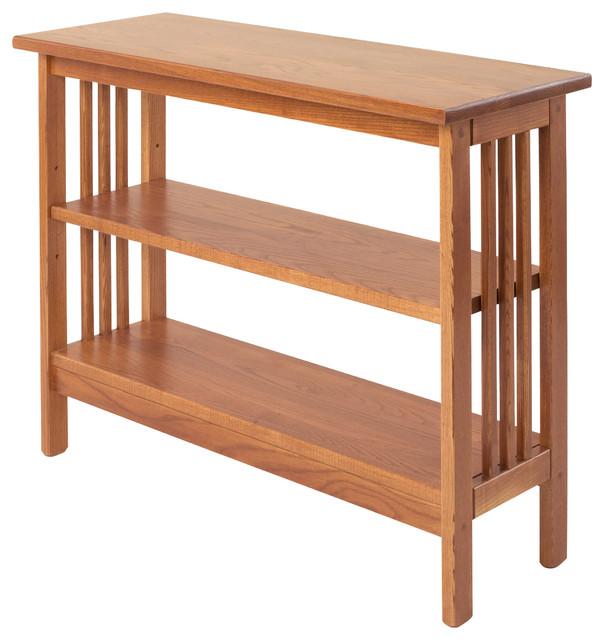 Mission Underwindow Bookshelf With Adjustable Shelf, Golden Oak Craftsman  Bookcases