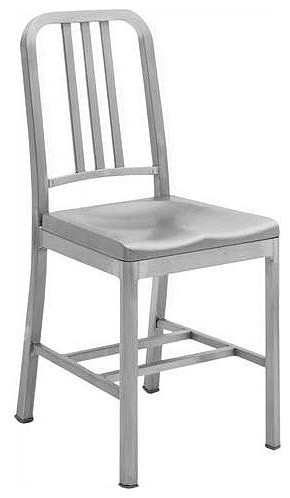 Aluminum Restaurant Chairs, Set Of 2, Black Wrinkle