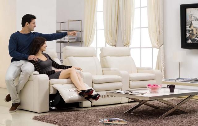 Ordinaire Galilea Italian Leather Reclining Ultimate Theater Sofa Modern Sofas