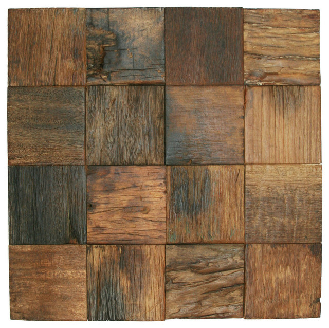 12 X12 Reclaimed Boat Wood Tile