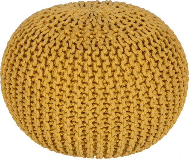 Surya Malmo Contemporary Cotton Sphere Pouf
