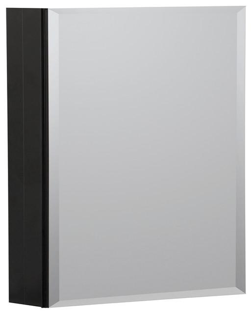 """16""""x20"""" Aluminum Medicine Cabinet, Black."""