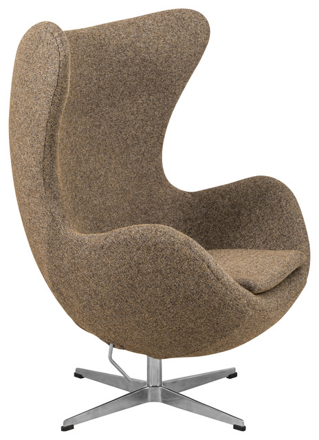 Egg Chair Accent Chairs.Leisuremod Swivel Accent Egg Chair With Tilt Lock Mechanism Oatmeal Twill