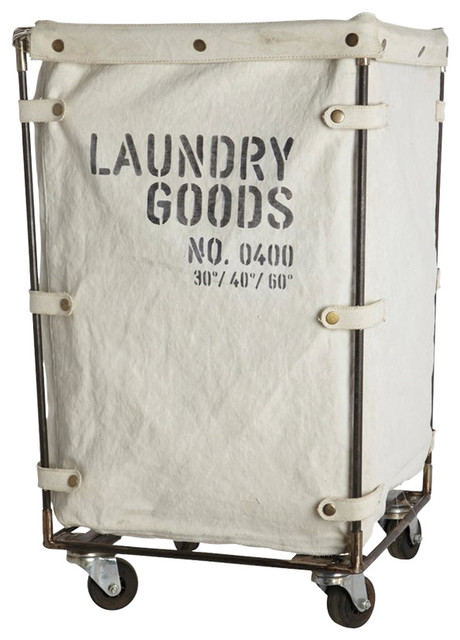 7827f936958 Industrial Canvas Laundry Basket - Industrial - Laundry Baskets - by Viva  Lagoon Ltd