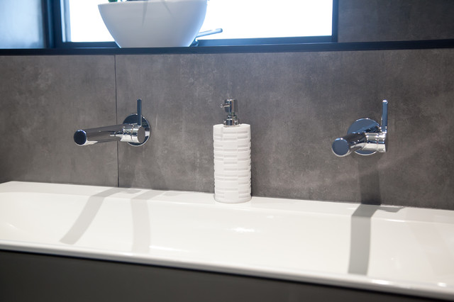 Inspiration for a contemporary bathroom in Gloucestershire.