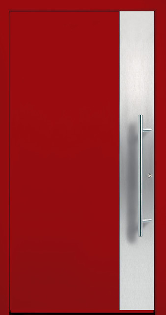 Modern Aluminum Entry Door in Ruby Red : groke doors - pezcame.com