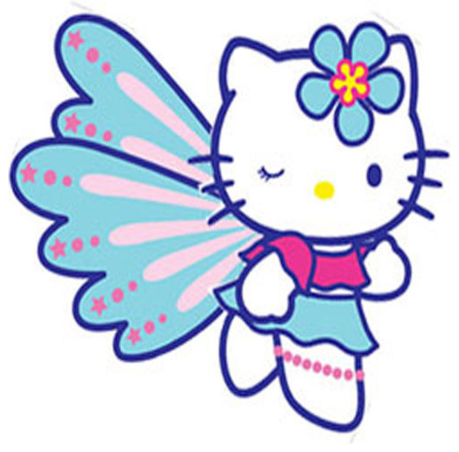 Hello kitty butterfly. Pc large wall