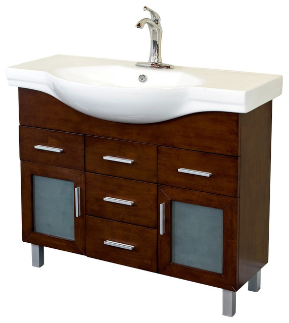 single sink vanity wood walnut 4 drawers bathroom vanities and sink