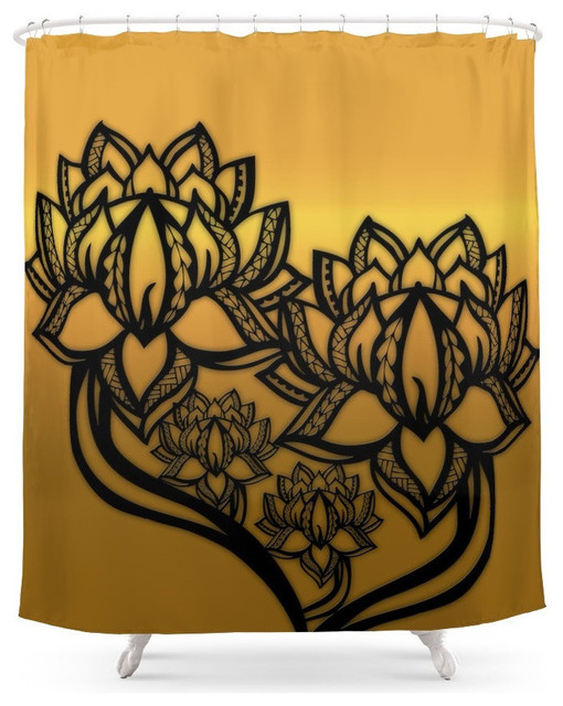 Poly Lotus Shower Curtain