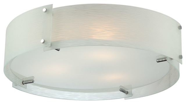 Tundra Flush Mount, Frosted Glass.
