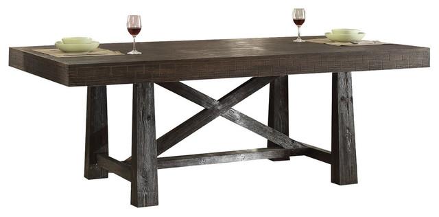 Acme Eliana Dining Table Salvage Dark Oak