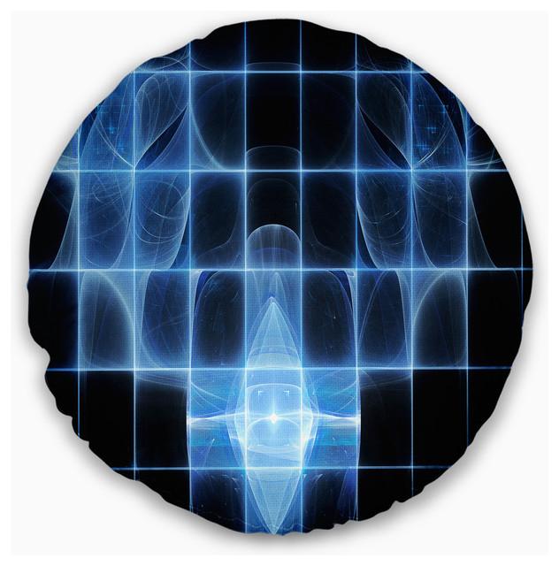 Bright Blue Bat On Radar Screen Abstract Throw Pillow Contemporary Decorative Pillows By Design Art Usa