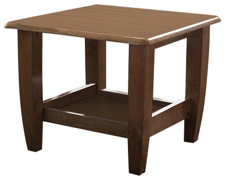 Pierce Mid Century Modern Walnut Finished Brown Wood End Table Transitional Side Tables And End Tables By Baxton Studio Houzz