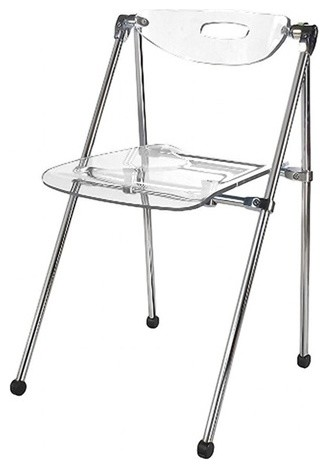 Delicieux Fine Mod Imports Acrylic Folding Chair, Clear