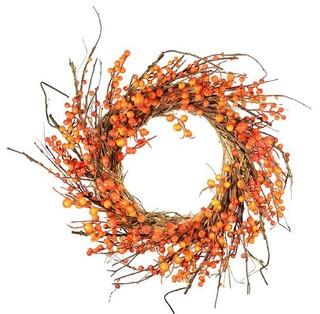 Fall Wild Berry Wreath, 25""