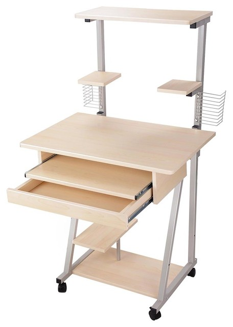 Mobile Rolling Computer Desk Tower.