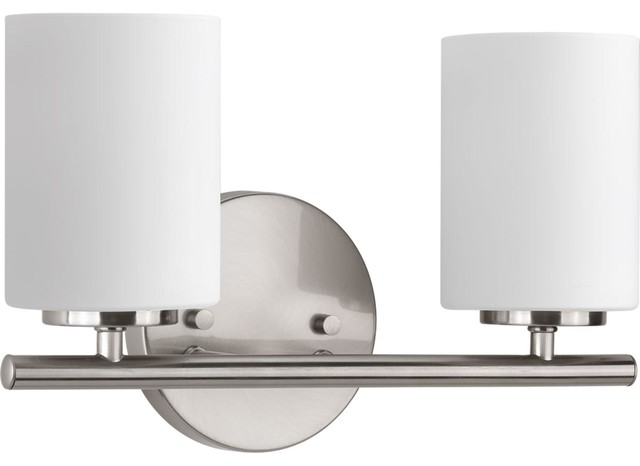 Replay 2-Light Bath Light, Brushed Nickel