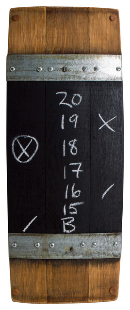 Wine Barrel Score Board Rustic Bulletin Boards And Chalkboards By Alpine Wine Design