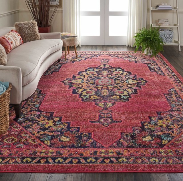 Nourison Passionate Area Rug, Pink Flame, 8&x27;9x11&x27;9.