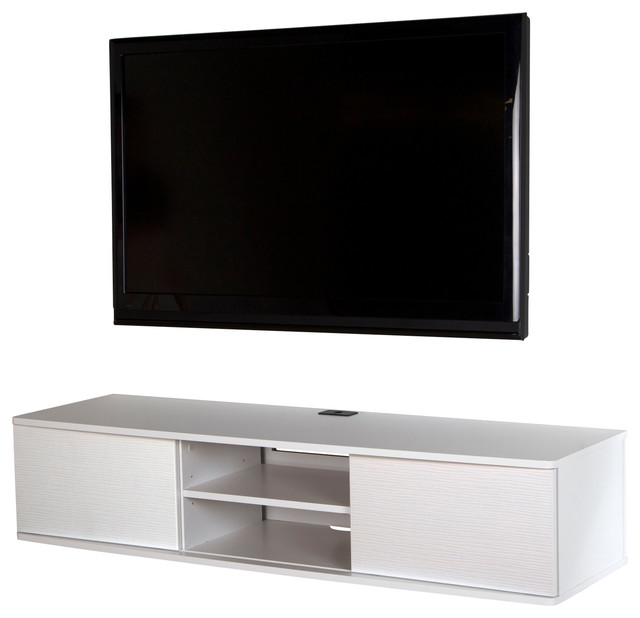 "South Shore Agora 56"" Wide Wall Mounted Media Console - Transitional - Media Cabinets - by South ..."