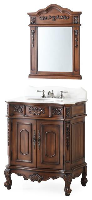 30 Ellenton Classic Bathroom Vanity Mirror Victorian Bathroom Vanities And Sink Consoles By Chans Furniture Houzz