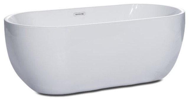 Oval Acrylic Free Standing Soaking Bathtub.